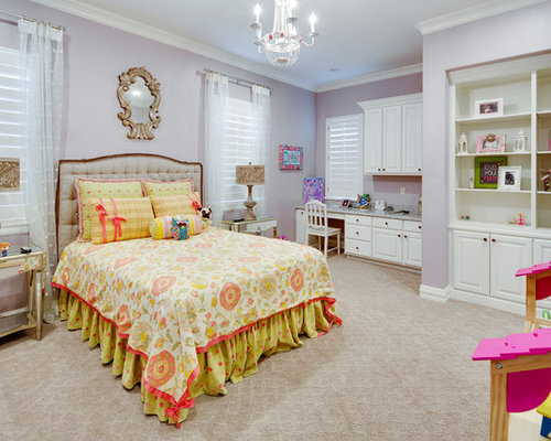Kid Bedroom Ideas. Inspiration for a timeless girl carpeted and beige floor kids  bedroom remodel in Austin with Top 20 Kids Room Ideas Photos Houzz