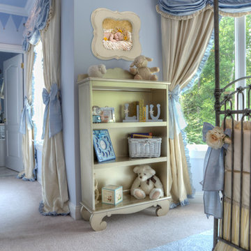 A Royal Prince Nursery in Baby Blue and Silver
