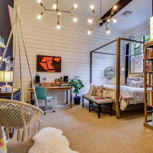 オースティンのエクレクティックスタイルのおしゃれな子供部屋の写真