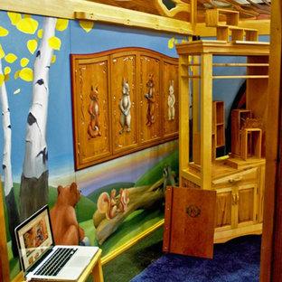 Foto di una grande stanza dei giochi da 1 a 3 anni american style