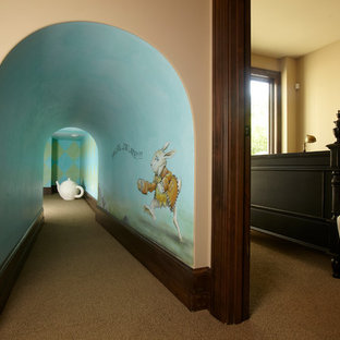 Alice In Wonderland Furniture Example Of A Clic Playroom Design Minneapolis With Beige Walls