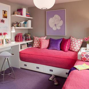 サンフランシスコの女の子用コンテンポラリースタイルの子供部屋の画像