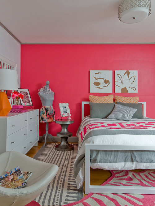 Example Of A Mid Sized Eclectic Girl Light Wood Floor Kidsu0027 Room Design In
