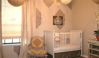 aqua and linen nursery