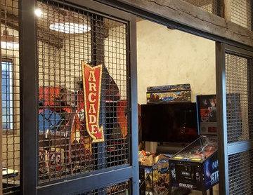 Arcade Sliding Doors and Iron Wall
