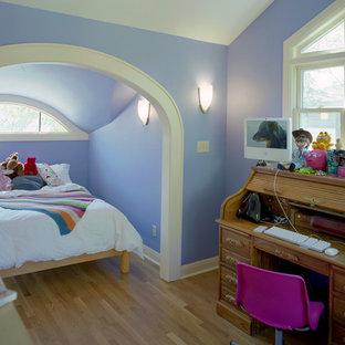 Immagine di una cameretta per bambini chic con pareti blu