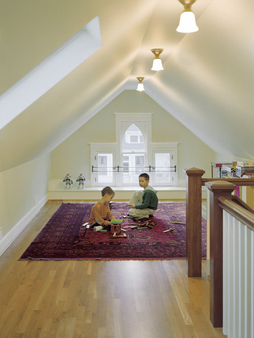 unfinished attic playroom ideas - Finished Attic Home Design Ideas Remodel and Decor