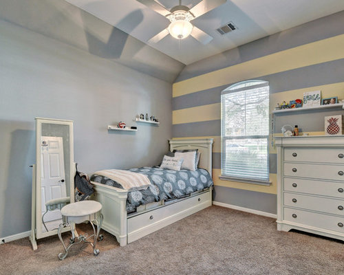 girl bedroom ideas. Inspiration for a transitional girl carpeted kids  room remodel in Austin with yellow walls Teenage Girls Bedroom Ideas Houzz