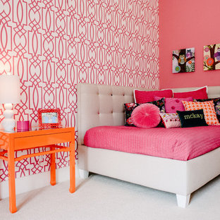 Hot Pink And Orange Wallpaper | Houzz