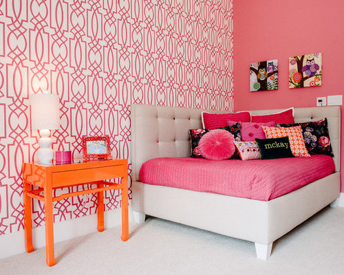 orange and pink bedroom ideas pink and orange wallpaper ideas pictures remodel and 19353