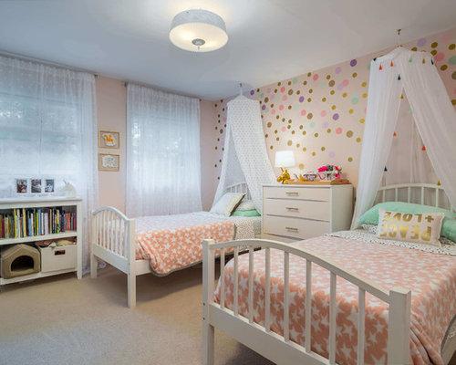 klassische kinderzimmer mit rosa wandfarbe design ideen. Black Bedroom Furniture Sets. Home Design Ideas