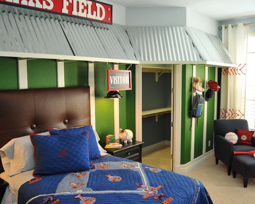 baseball theme home design ideas pictures remodel and decor. Black Bedroom Furniture Sets. Home Design Ideas
