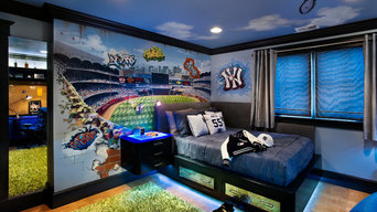 Baseball Wall Mural of Yankees Stadium