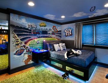 Baseball Wall Mural of Yankees Stadium