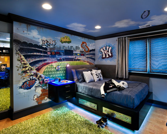 Baseball Stadium Wall Mural Kit Murals You Ll Love