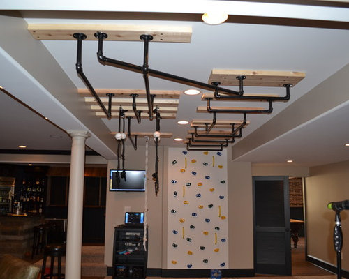 Monkey bars houzz for Basement jungle gym