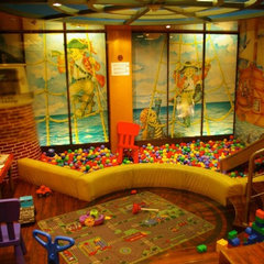 contemporary kids Basement Playroom