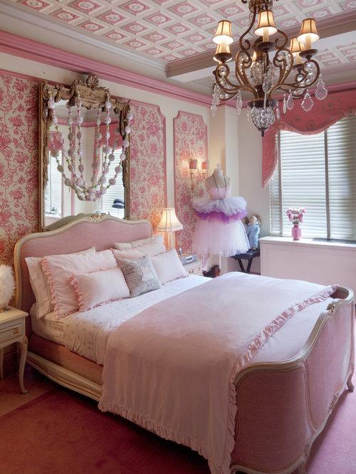 Pink bedroom houzz - Childrens pink bedroom ideas ...