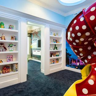 Neutrales Stilmix Kinderzimmer mit Spielecke und Teppichboden in Orlando