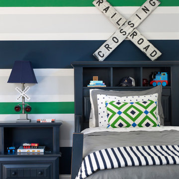 #bethesdaglamfam - Green and Navy Boy's Bedroom