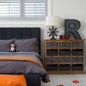 #bethesdaglamfam - Orange and Gray Kid's Room