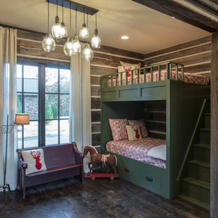 Inspiration for a rustic kids' bedroom remodel in Other