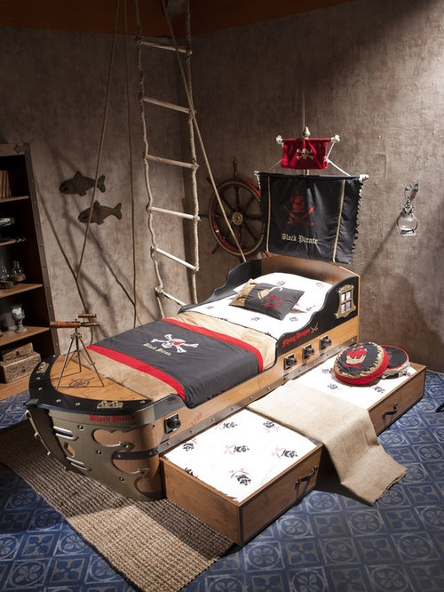 Pirate ship bed home design ideas pictures remodel and decor for Kids pirate room