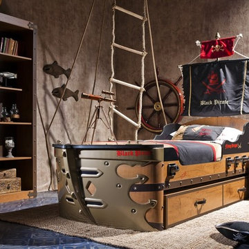 Black Pirate kids bedroom collection