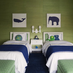 contemporary kids Blue & Green Boys' Room