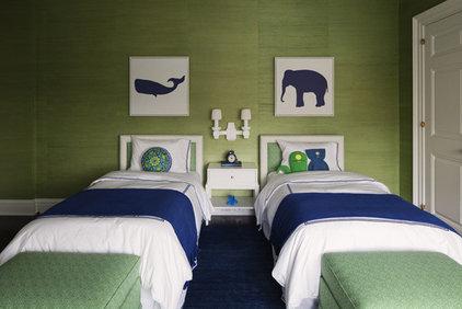 Contemporary Kids Blue & Green Boys' Room