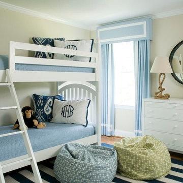 Blue & White Big Boy Room