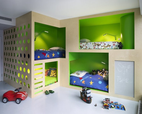 inspiration for a contemporary kids room remodel in new york - Design Kid Bedroom