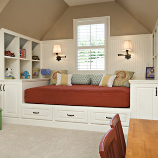 Inspiration for a timeless playroom remodel in Raleigh