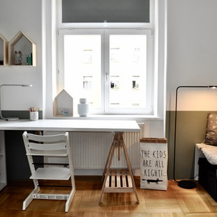 Inspiration For A Small Scandinavian Gender Neutral Kids Bedroom Remodel In Kansas City With
