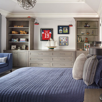 Boy's Bedroom with Blue and Grey