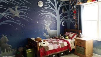 Boy's Forest Mural Bedroom