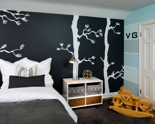 chalkboard wall mural home design photos