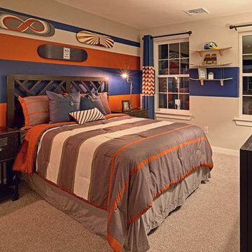 Boy's Bedroom with Skateboard Theme