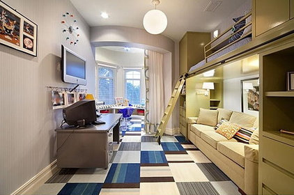 Contemporary Kids Boys Bunkbeds