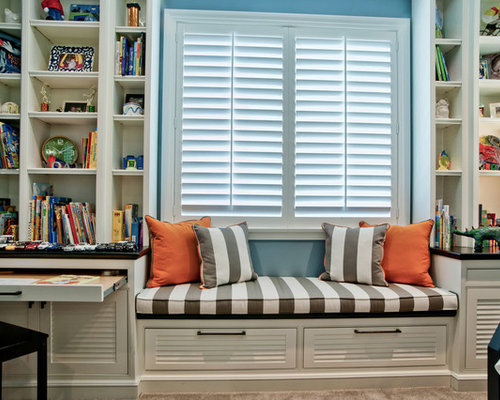 Built In Desk And Window Seat | Houzz