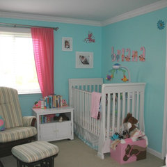 contemporary kids Briana's Nursery in the old house