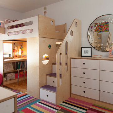 Brooklyn Heights; Two dumbo loft beds for two sisters