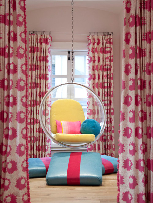Pink White Curtains | Houzz