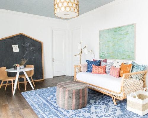 large transitional gender neutral dark wood floor and brown floor playroom photo in salt lake - Kids Playroom Ideas