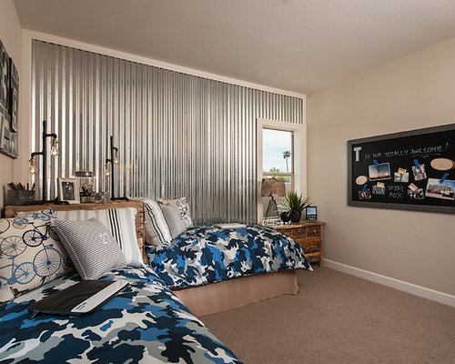 Corrugated Metal Wall Home Design Ideas Pictures Remodel and Decor