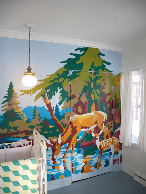 paint by number wall mural houzz