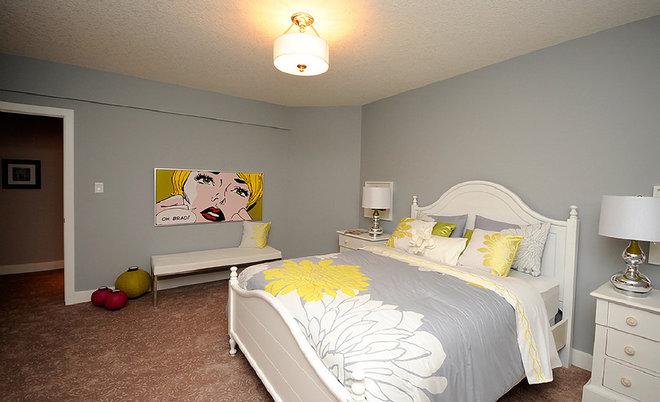 Contemporary Bedroom by Marie Hebson's interiorsBYDESIGN Inc.