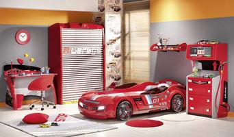 Car bed kids bedroom - Red Italia Car bed