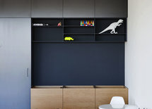 Is the black wall unit custom or is there a manufacturer?