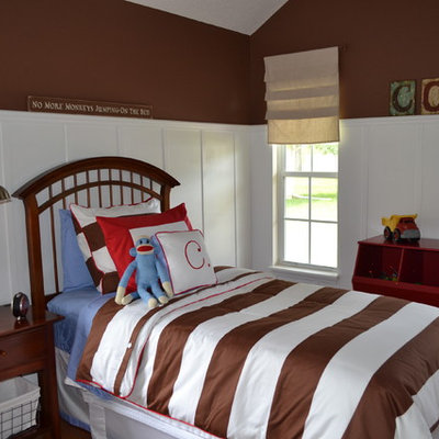 Inspiration for a timeless kids' room remodel in Other with multicolored walls